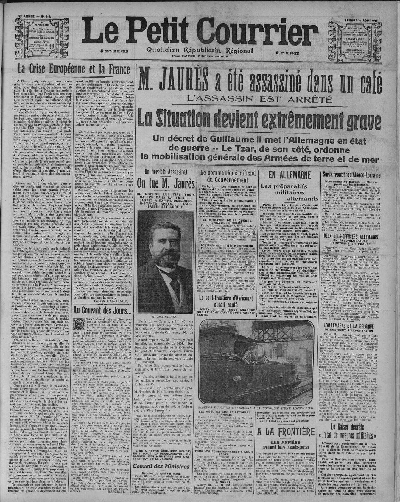 1er aout 1914