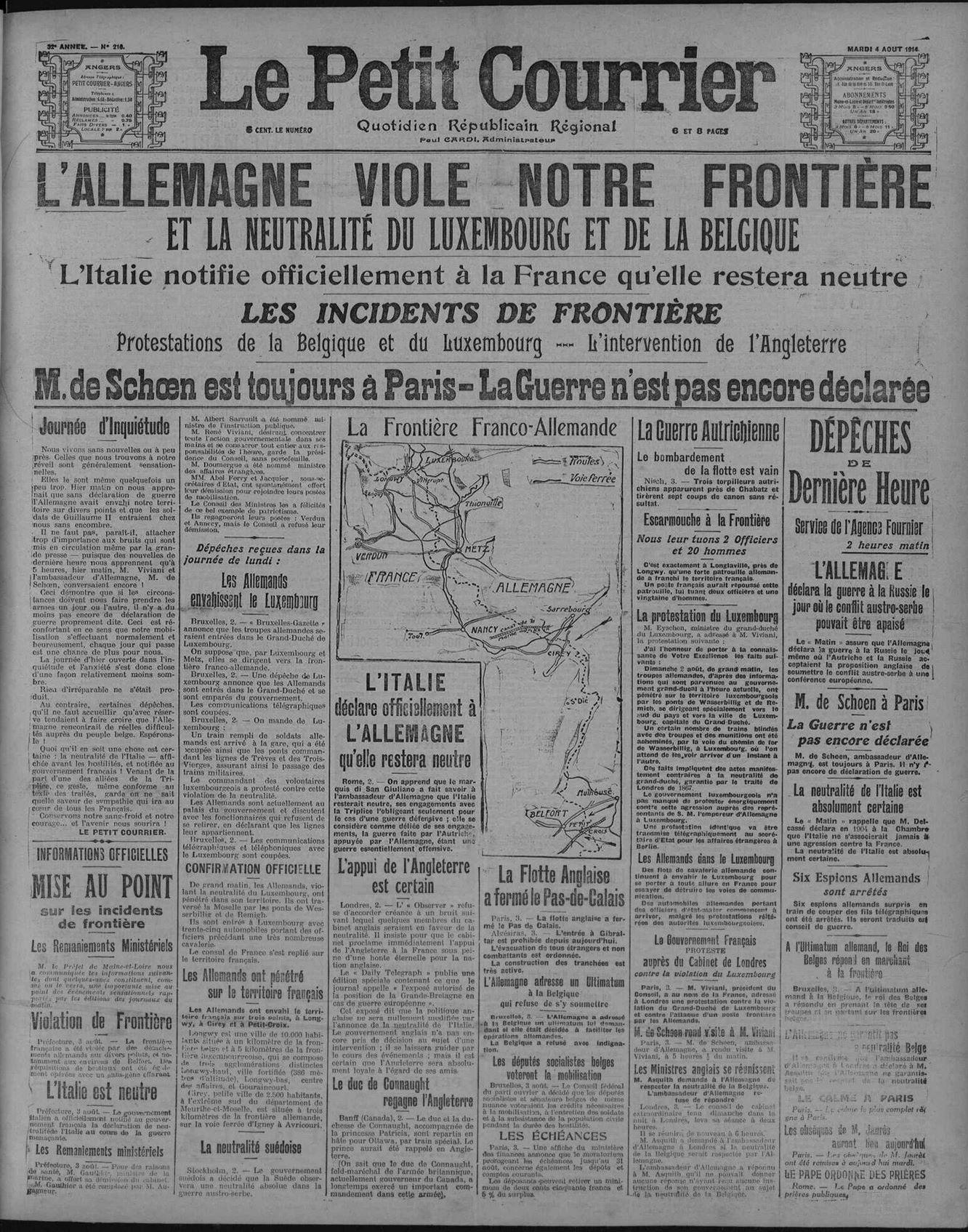 4 aout 1914