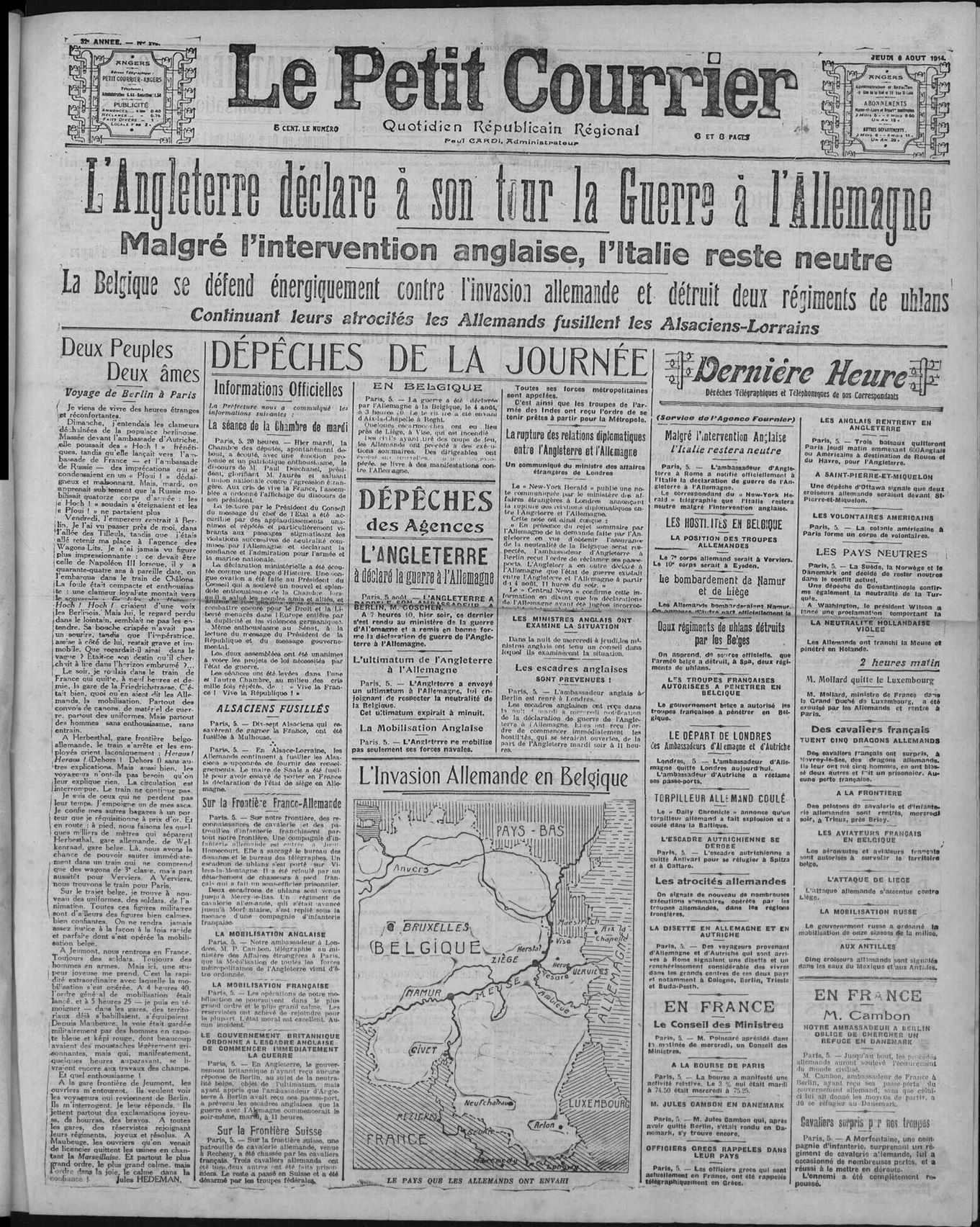 6 aout 1914