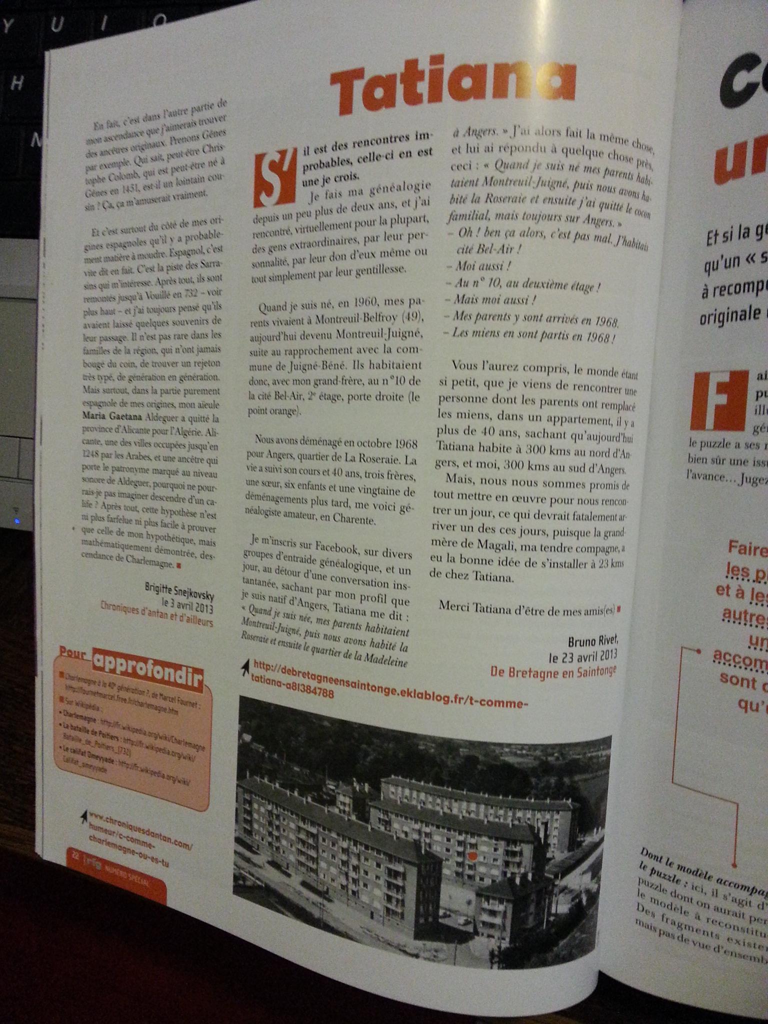 Numéro Spécial de la revue Française de Généalogie